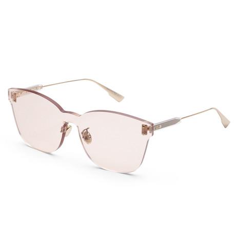 Women's Color Quake Sunglasses // Gold + Light Brown
