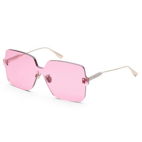 Women's Color Quake Sunglasses // Fuchsia + Gold