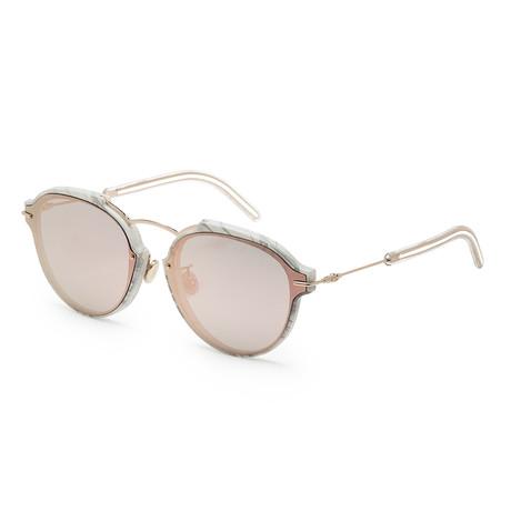 Women's Dioreclat Sunglasses // White Marble + Rose Gold