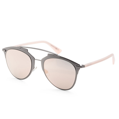 Women's Reflected Sunglasses // Pink + Gray