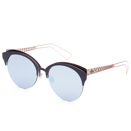 Women's Diorama Club Sunglasses // Matte Blue + Pink
