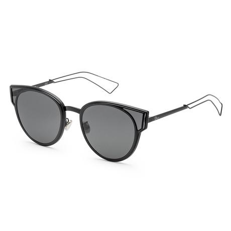 Women's Sculpt Sunglasses // Shiny Black + Gray