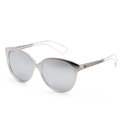 Women's Diorama Sunglasses // Silver Palladium + Silver Mirror