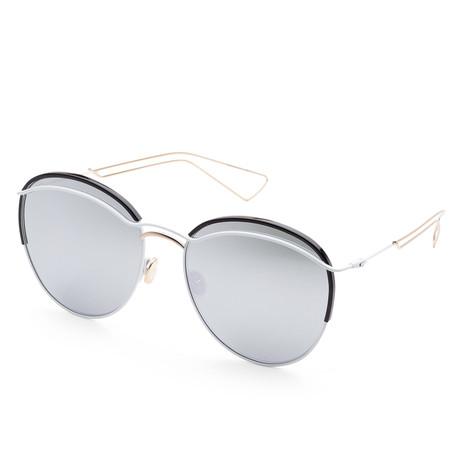 Women's Dioround Sunglasses // White + Black + Gray