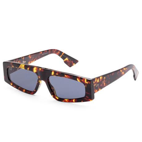 Women's Diorpowers Sunglasses // Dark Havana + Blue