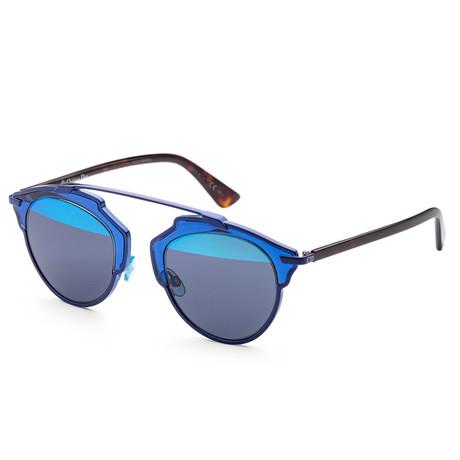 Women's So Real Sunglasses // Blue + Blue Mirror