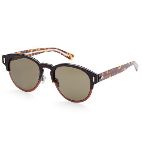 Men's Black Tie Sunglasses // Orange Havana
