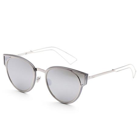 Women's Sculpt Sunglasses // Palladium + Silver Mirror
