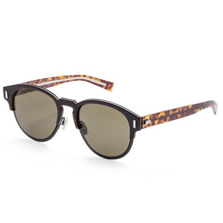 Men's Black Tie Sunglasses // Brown Havana