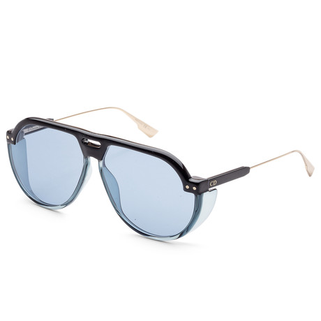 Women's Diorclub Sunglasses // Black + Blue