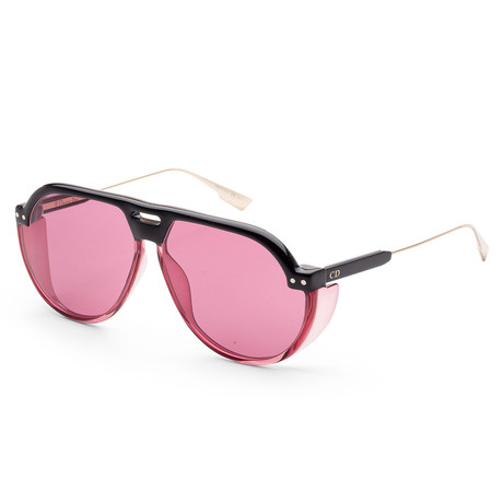 Women's Diorclub Sunglasses // Black + Pink