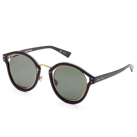 Women's Elliptic Sunglasses // Black + Gray Green