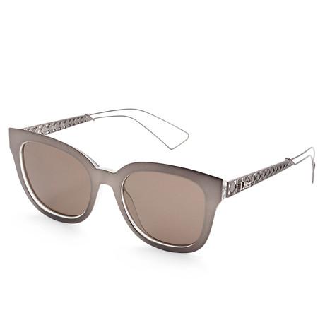 Women's Diorama Sunglasses // Brown Crystal + Brown