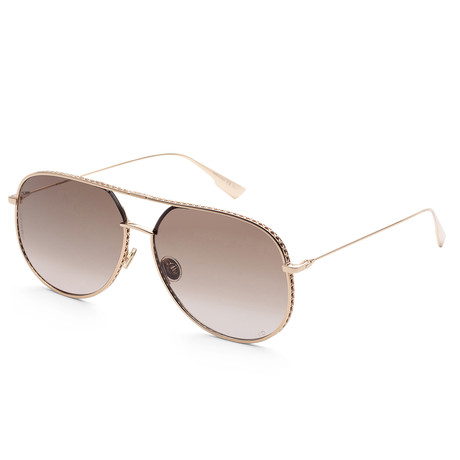 Women's By Dior Sunglasses // Rose Gold + Brown