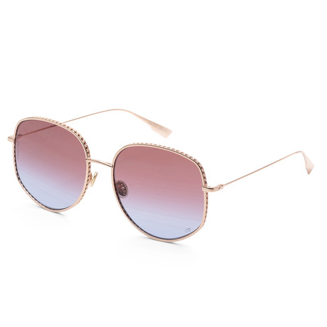 Women's By Dior Sunglasses V1 // Gold + Red Blue Gradient
