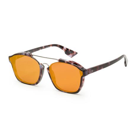 Women's Abstract Blossoms Sunglasses // Mauve Havana + Orange