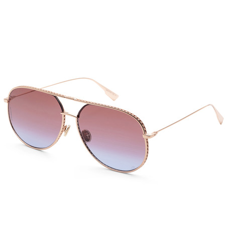 Women's By Dior Sunglasses V2 // Gold + Red Blue Gradient