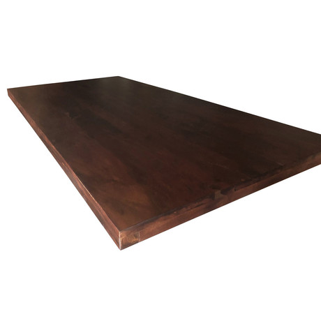 "Solid Acacia Wood Dining or Desk Top // Provincial Dark (80""L x 40""W x 2.25""H)"