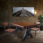 "Solid Acacia Wood Dining or Desk Top // Provincial Dark (80""L x 40""W x 2.25""H)"
