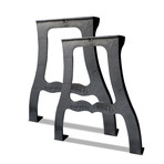 Vintage Industrial Ductile Cast Iron Table Legs // Set of 2