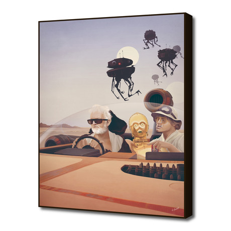 "Fear and Loathing on Tatooine (16""W x 20""H x 1.5""D)"
