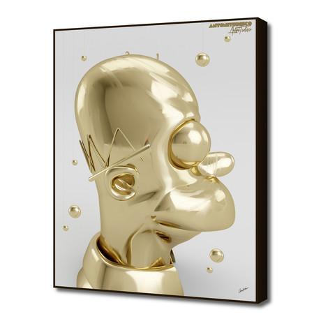 """Golden Homer (16""""W x 20""""H x 1.5""""D)"""