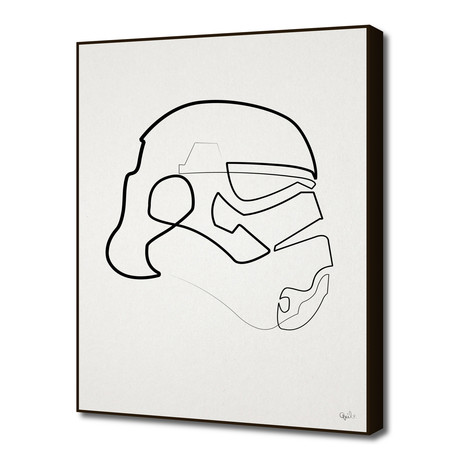 "One Line Storm Trooper (16""W x 20""H x 1.5""D)"