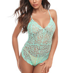 Lace Bodysuit // Green (M)
