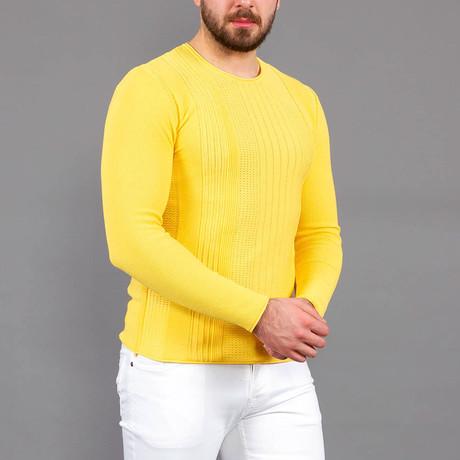 Allan Tricot Sweater // Yellow (S)
