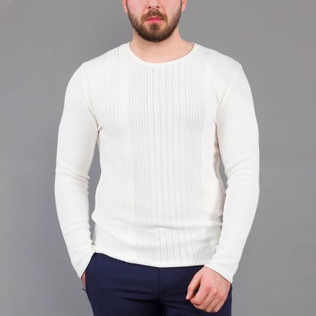 Jordan Tricot Sweater // Ecru (S)