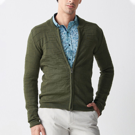 Eric Tricot Cardigan // Olive Green (S)