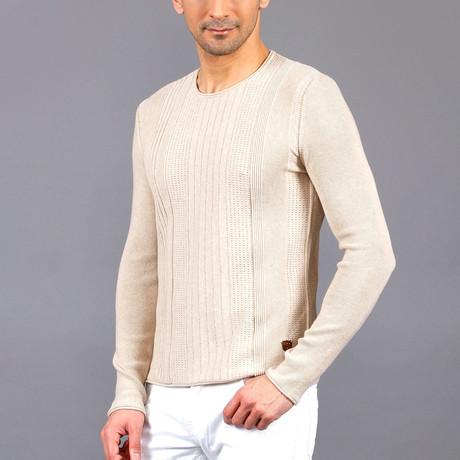 Travis Tricot Sweater // Beige (S)