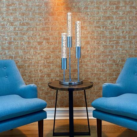 Acrylic Cylinders Table Lamp // 3 Light