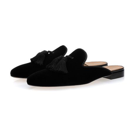 Louis Velour Mules // Black (Euro: 39)