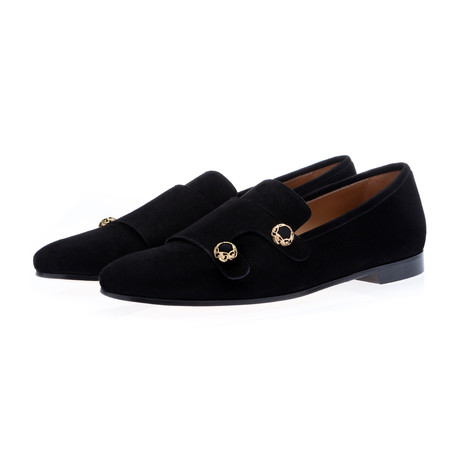 Odilux Velukid Loafers // Black (Euro: 39)