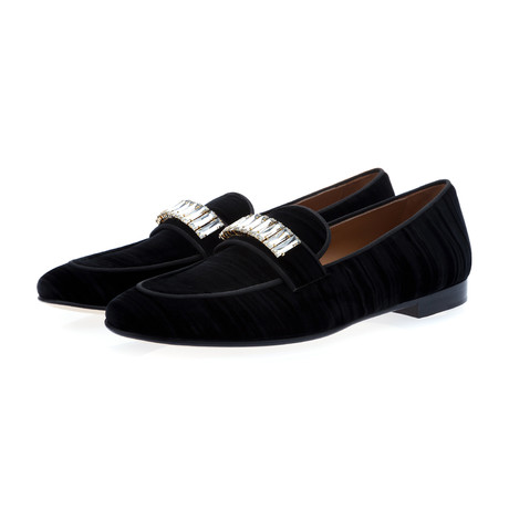 Dandan Wrinkle Slippers // Black (Euro: 39)