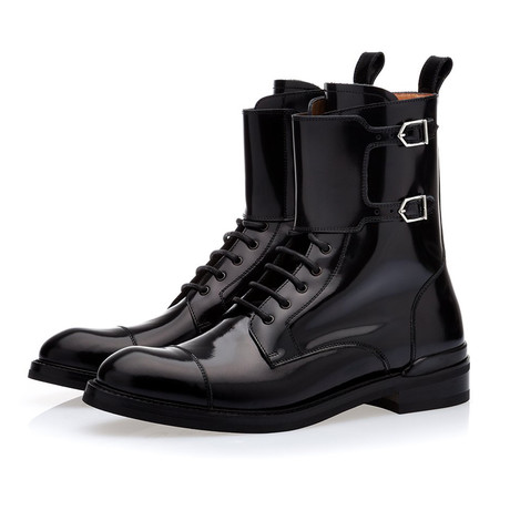 Odilon Brushed Army Boots // Black (Euro: 39)