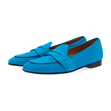 Tangerine 9 Velukid Belgian Loafers // Light Blue (Euro: 39)