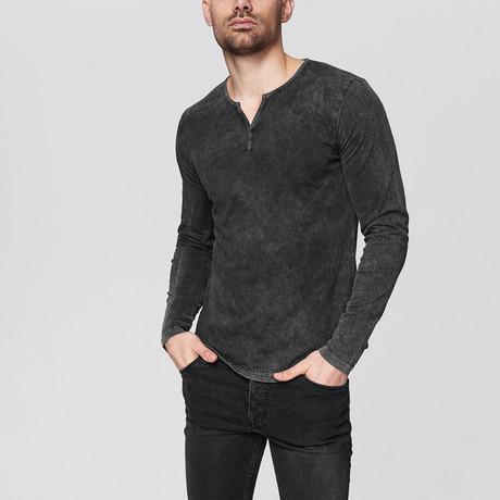 Caleb Long Sleeve Shirt // Anthracite (Small)