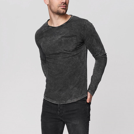 Bradley Long Sleeve Shirt // Anthracite (Small)
