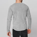 Caleb Long Sleeve Shirt // Gray (Medium)