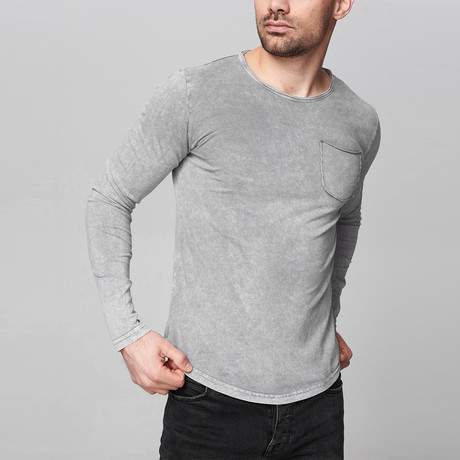 Bradley Long Sleeve Shirt // Gray (Small)