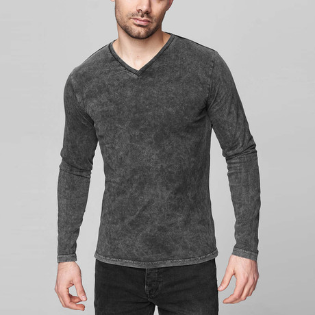 Leroy Long Sleeve Shirt // Anthracite (Small)
