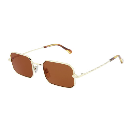Men's Square Sunglasses V2 // Gold + Brown