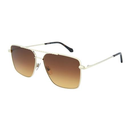 Men's Square Sunglasses V1 // Gold + Brown