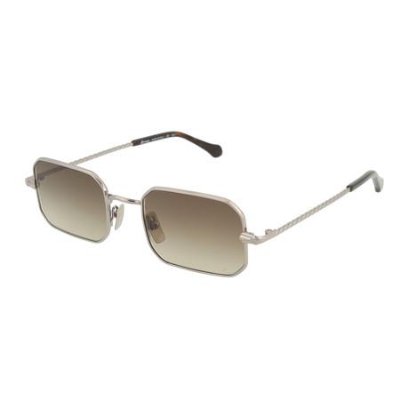 Men's Round Sunglasses // Ruthenium + Brown