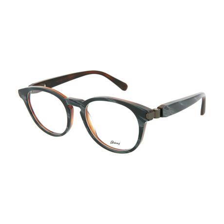 Men's Round Optical Frames // Brown + Gray