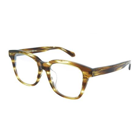 Men's Square Optical Frames // Havana + Silver