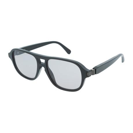 Men's Aviator Optical Frames // Black + Gray