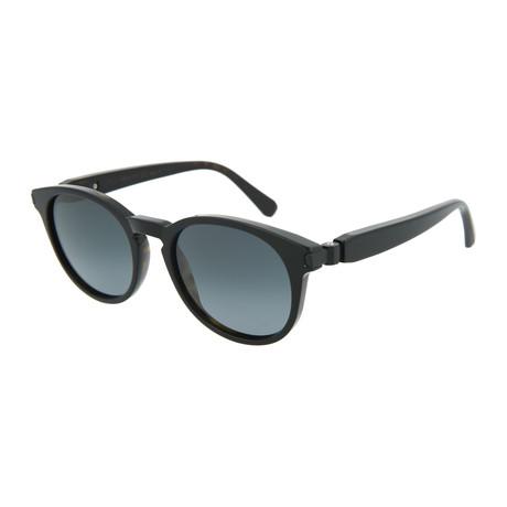 Men's Round Sunglasses // Black + Gray